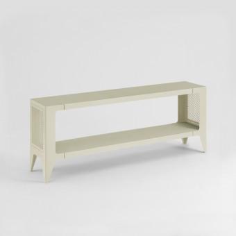 LOWBOARD CHAMFER seiden-grau | nachhaltiges Möbeldesign | WYE