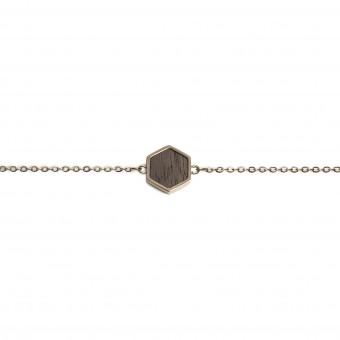 BeWooden Handkette mit Holzdetail - Lumen Hexagon Bracelet