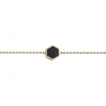 BeWooden Handkette mit Holzdetail - Lux Hexagon Bracelet