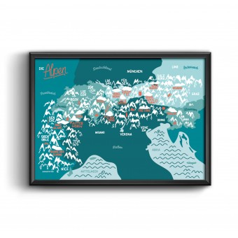 "Roadtyping Print ""Alpen"" |30x40cm"