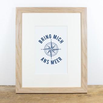 Bow & Hummingbird Bild mit Echtholzrahmen - Bring mich ans Meer
