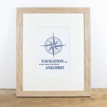 Bow & Hummingbird Bild mit Echtholzrahmen - Navigation