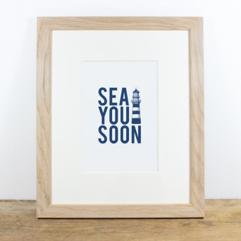 Bow & Hummingbird Bild mit Echtholzrahmen - Sea you soon