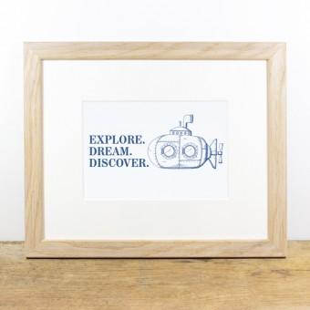 Bow & Hummingbird Bild mit Echtholzrahmen - Explore ...