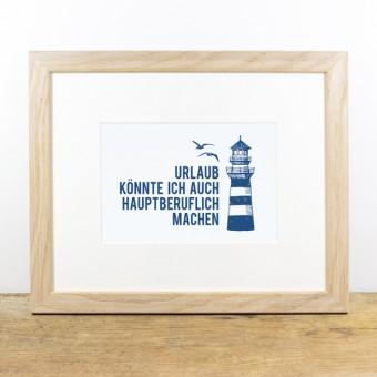 Bow & Hummingbird Bild mit Echtholzrahmen - Urlaub hauptberuflich