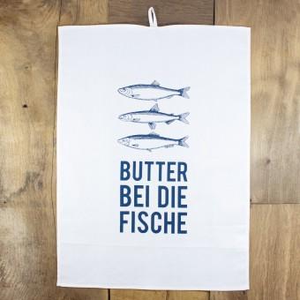 """Bow & Hummingbird Geschirrtuch """"Butter bei die Fische"""""""