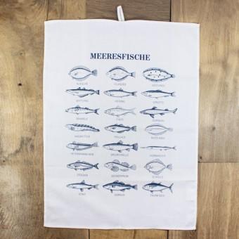 """Bow & Hummingbird Geschirrtuch """"Meeresfische"""""""