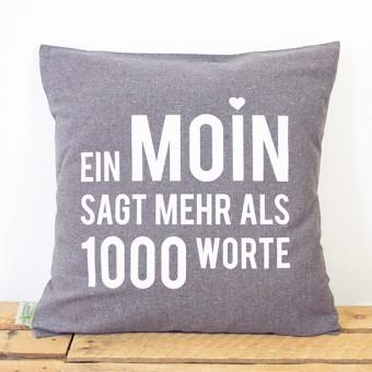 "Bow & Hummingbird Kissenbezug ""Ein Moin sagt mehr ..."""