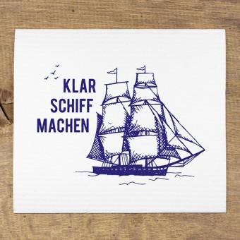 """Bow & Hummingbird Schwammtücher """"Klar Schiff machen"""" (3 Stück)"""