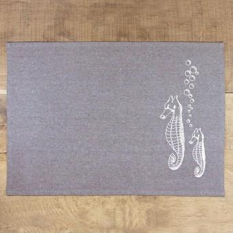 Bow & Hummingbird Tischset Seepferdchen (4 Stück)
