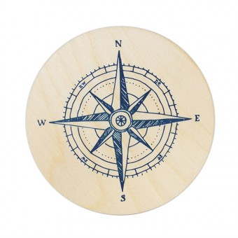 "Bow & Hummingbird Untersetzer ""Kompass"" (4 Stück)"