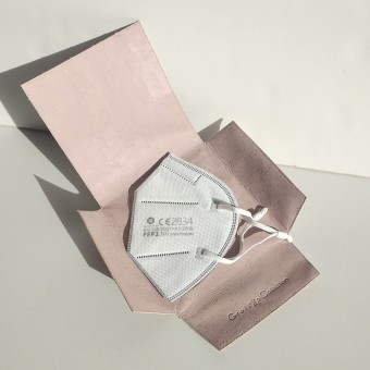 Grotkop Collection MASKENTASCHE aus Kork, Rosa/Metallic