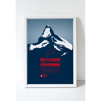 "Bergdruck ""Matterhorn"" von Marmota Maps"