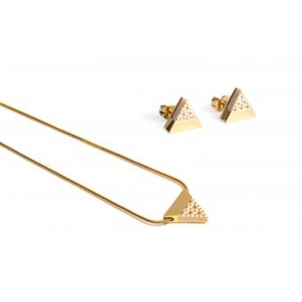 BeWooden Halskette & Ohrringe Set - Virie Set