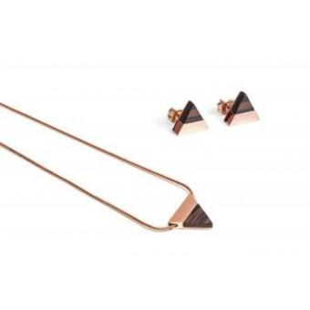 BeWooden Halskette & Ohrringe Set - Rose Set