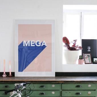 "stahlpink - ""mega""-Poster, Fine-Art-Print"