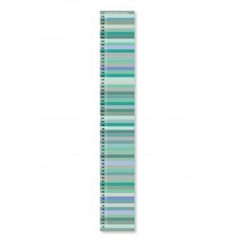 "Messlatte ""mannometer"" | Variante ""Pastell"" | 70 - 190 cm | beidseitig bedruckt | 100% Recyclingpapier | Wi-La-No"