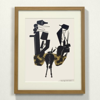 Print now - Riot later ● Midcentury Donkey Siebdruck