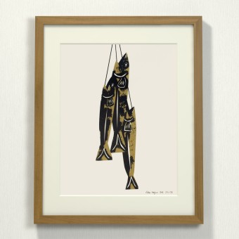 Print now - Riot later ● Midcentury Fishes Siebdruck