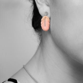 minischmidt miniERNA Flamingofeder Ohrringe