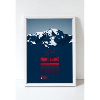 """Bergdruck """"Mont Blanc"""" von Marmota Maps"""