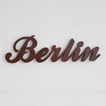 MOTIVSCHNITT Berlin Wandobjekt (dunkel gebeizt)