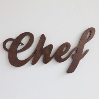 MOTIVSCHNITT Chef Wandobjekt (dunkel gebeizt)