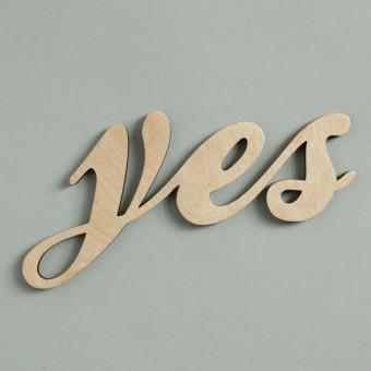 MOTIVSCHNITT Yes Wandobjekt (natur)