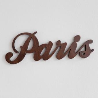MOTIVSCHNITT Paris Wandobjekt (dunkel gebeizt)