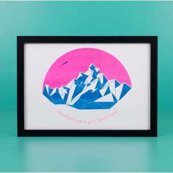 polypodium / mountains are a girl´s best friend - Risoprint - A4