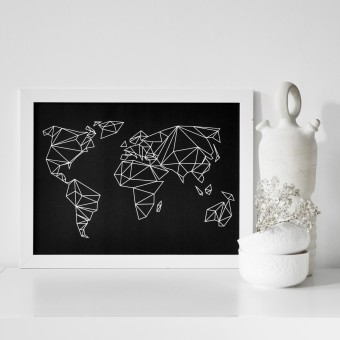 na.hili A3 Print Geometrical World black Poster
