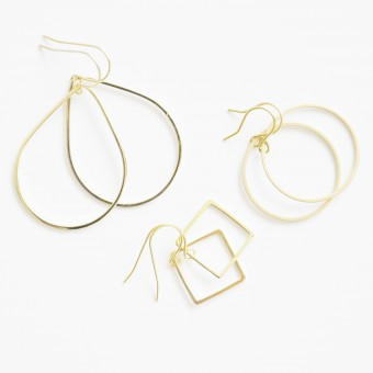 na.hili - Ohrringe - SHAPES - 14k* Gelbgold