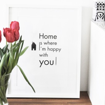 na.hili A3 Print Home is where I´m happy....