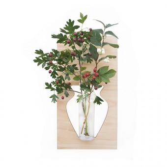 """Vase für die Wand """"flortrait natur"""""""
