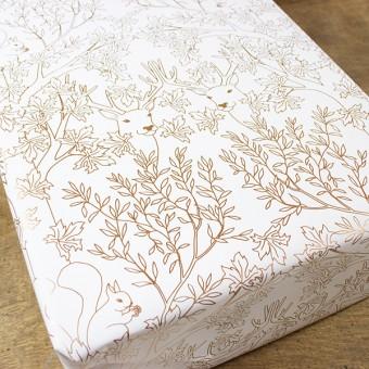Bow & Hummingbird Geschenkpapier Deep Forest