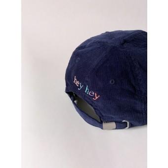 hey hey Rainbow cap - navy (Stick hinten)