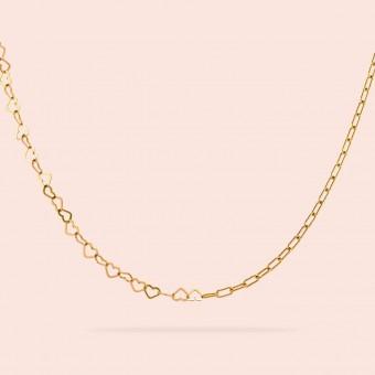 related by objects - just hearts necklace - 925 Sterlingsilber 18k goldplattiert