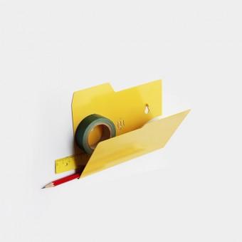 Njustudio Neuer Ordner Mini, DIN A6 (gelb, einzeln oder im 3er-Set)