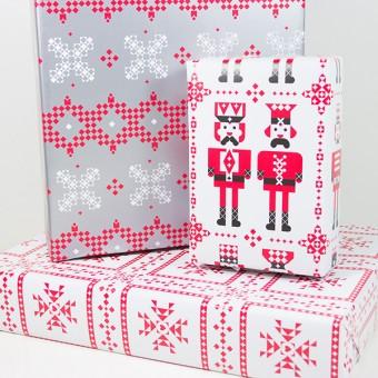 Bow & Hummingbird Geschenkpapier-Set Nussknackers Weihnachtswelt