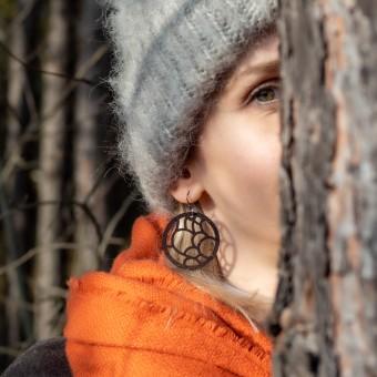 LEDERJUNGE – Ohrschmuck »ANN« aus rhabarberleder®