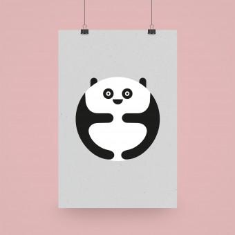 """Edith schmuckes Papier """"Panda"""" Poster 20x30cm"""