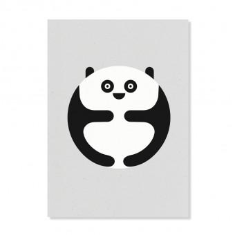 """Edith schmuckes Papier """"Panda"""" Postkarte"""