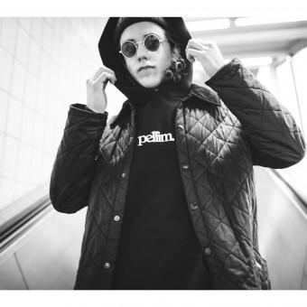 pellim. hoodie basic schwarz