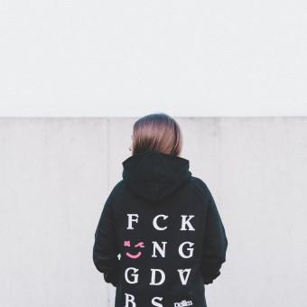pellim. f*cking good vibes. hoodie schwarz