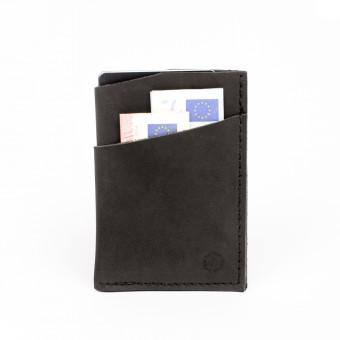 HOCH3 KURT Wallet | schwarzes Leder