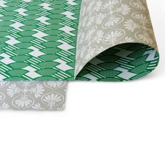 Perunoto Geschenkpapier, grün/grau