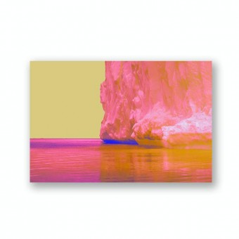 "ZEITLOOPS ""Pink iceberg"", Fineartprint 40x60 cm"