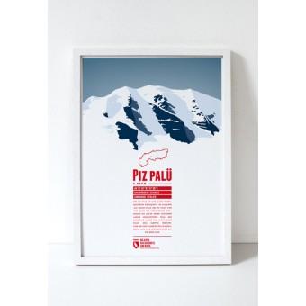 """Bergdruck """"Piz Palü"""" von Marmota Maps"""