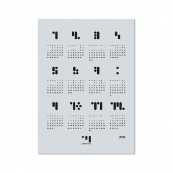 punktkommastrich - kalender 2020 glaciergray Designwandkalender