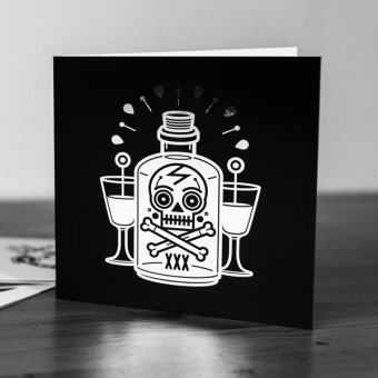Krools Design Postkarten Tattoo – Poison (4er Set)